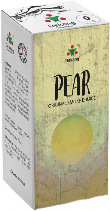 Liquid Dekang Pear (Hruška) 10ml - 0mg