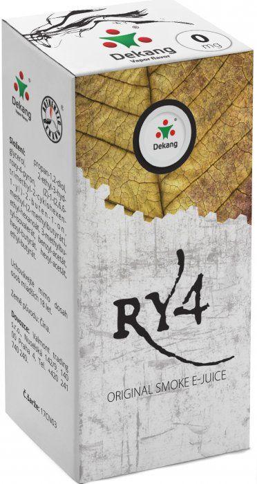 Liquid Dekang RY4 10ml - 0mg (směs karamelu, vanilky a tabáku)