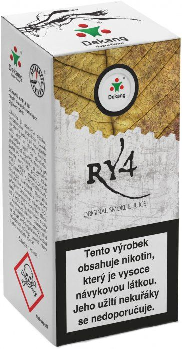 Liquid Dekang RY4 10ml - 18mg (směs karamelu, vanilky a tabáku)