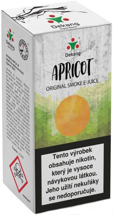 Liquid Dekang Apricot 10ml - 6mg (Meruňka)