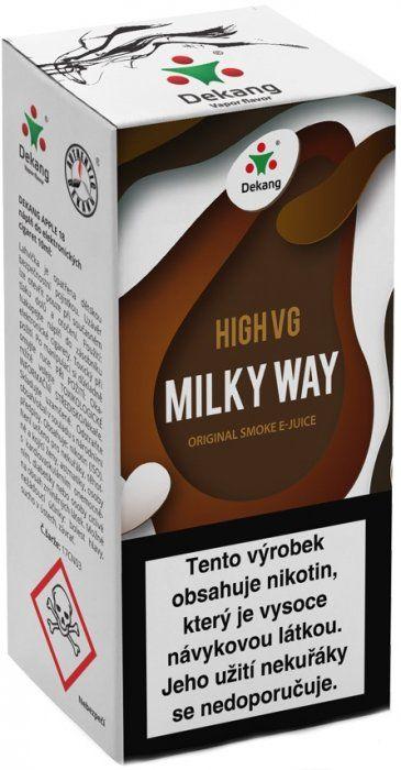 Liquid Dekang High VG Milky Way 10ml - 3mg (Tvarohový koláč s mandlemi)