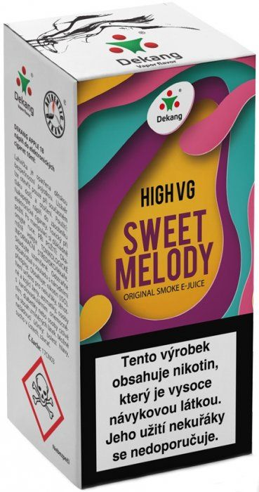 Liquid Dekang High VG Sweet Melody 10ml - 6mg (Broskev s citrónem)