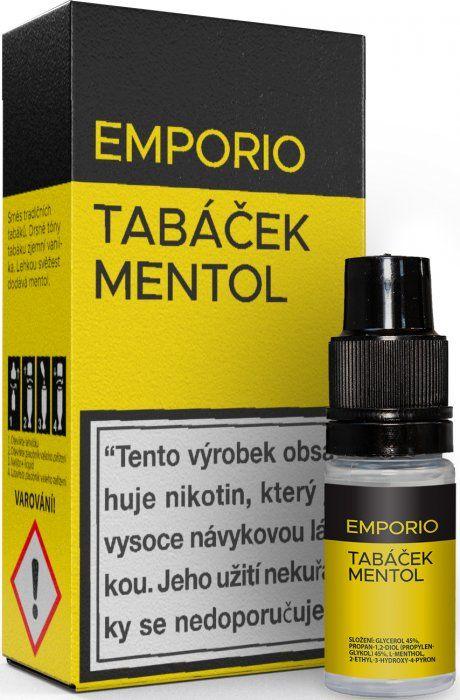 Liquid EMPORIO Tobacco - Menthol 10ml - 9mg