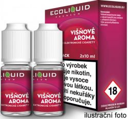 Liquid Ecoliquid Premium 2Pack Cherry 2x10ml - 3mg (Višeň)