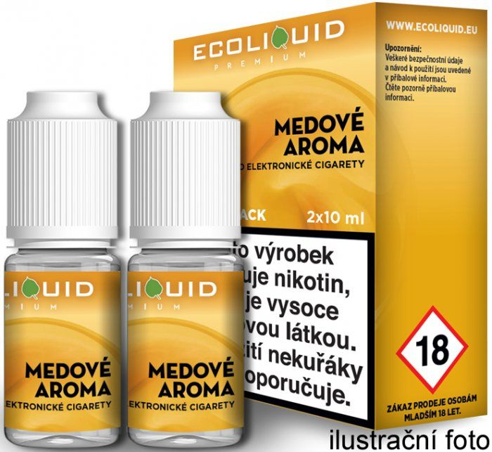 Liquid Ecoliquid Premium 2Pack Honey 2x10ml - 0mg (Med)