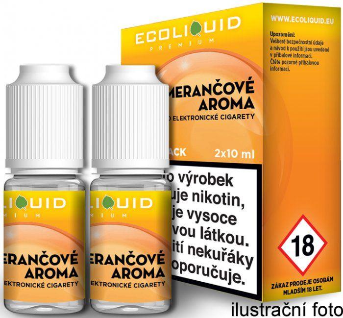 Liquid Ecoliquid Premium 2Pack Orange 2x10ml - 0mg (Pomeranč)