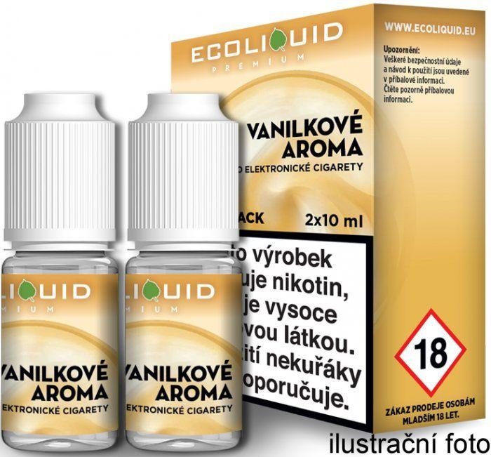 Liquid Ecoliquid Premium 2Pack Vanilla 2x10ml - 0mg (Vanilka)