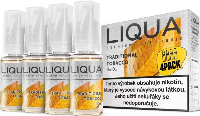Liquid LIQUA CZ Elements 4Pack Traditional tobacco 4x10ml-3mg (Tradiční tabák)
