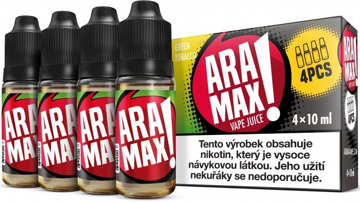 Liquid ARAMAX 4Pack Green Tobacco 4x10ml-6mg