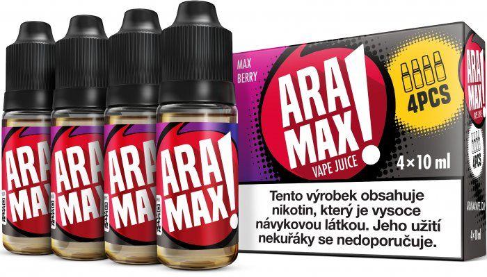 Liquid ARAMAX 4Pack Max Berry 4x10ml-6mg