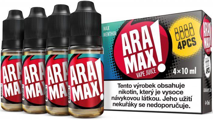 Liquid ARAMAX 4Pack Max Menthol 4x10ml-6mg