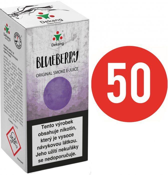 Liquid Dekang Fifty Blueberry 10ml - 11mg (Borůvka)