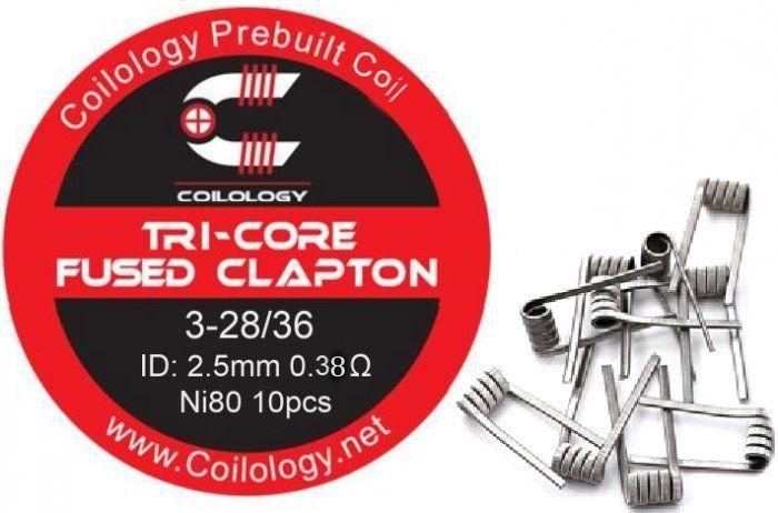Coilology Tri-Core Fused Clapton předmotané spirálky Ni80 0,38ohm 10ks