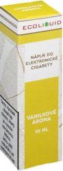 Liquid Ecoliquid Vanilla 10ml - 0mg (Vanilka)