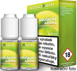 Liquid Ecoliquid Premium 2Pack Pear 2x10ml - 6mg (Hruška)